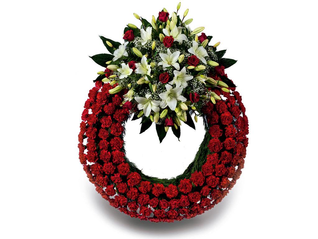 Coronas y ramos de flores